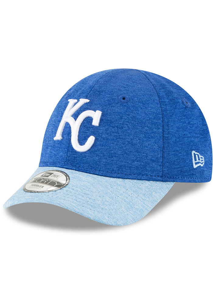 New Era Kansas City Royals Baby Shadowed Tot 9FORTY Adjustable Hat - Blue - Image 1