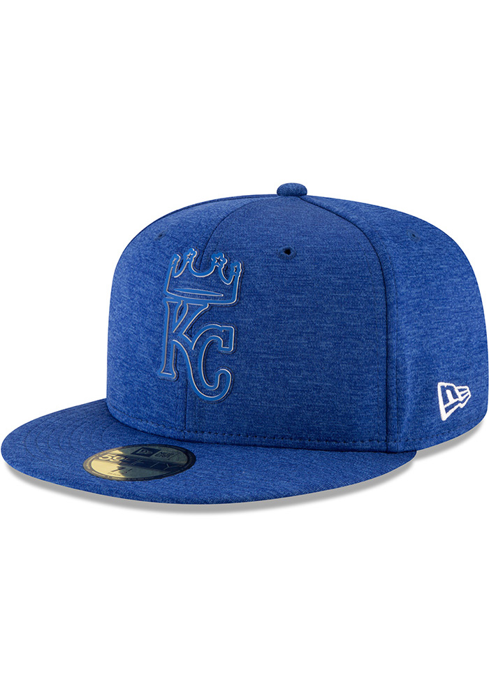 New Era Kansas City Royals Mens Blue 2018 Clubhouse 59FIFTY Fitted Hat - Image 1