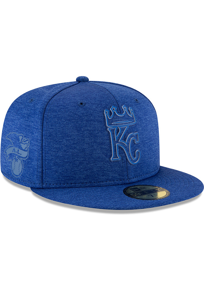 New Era Kansas City Royals Mens Blue 2018 Clubhouse 59FIFTY Fitted Hat - Image 2