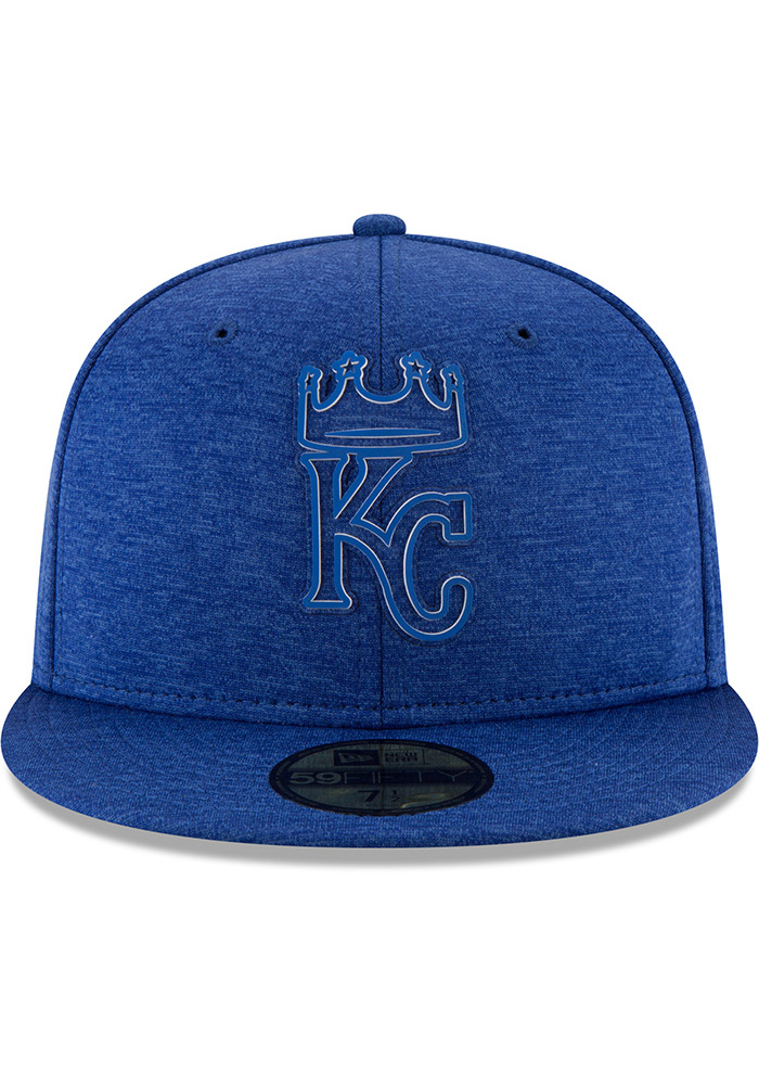 New Era Kansas City Royals Mens Blue 2018 Clubhouse 59FIFTY Fitted Hat - Image 3