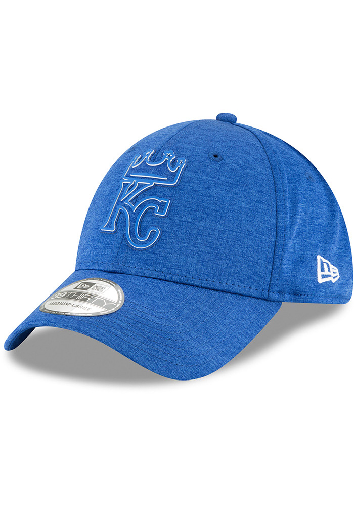New Era Kansas City Royals Blue 2018 Clubhouse Jr 39THIRTY Youth Flex Hat - Image 1
