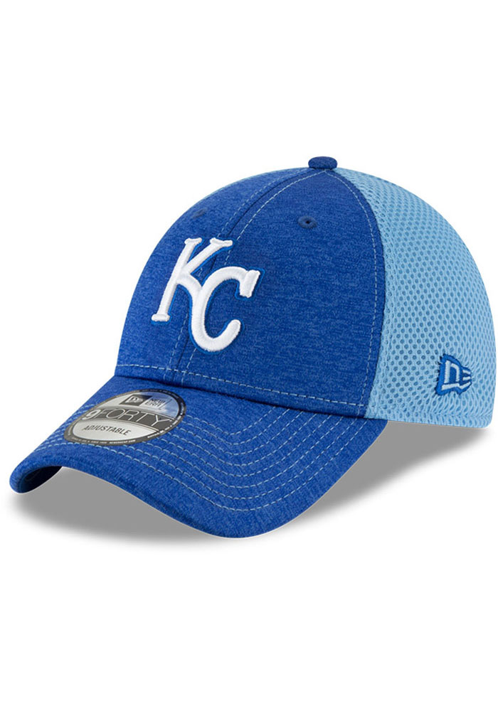 Kansas City Royals New Era Shadow Turn 2 9FORTY Adjustable Hat - Blue