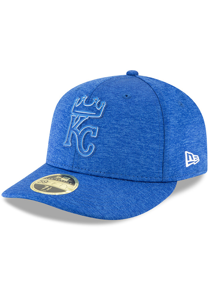 New Era Kansas City Royals Mens Blue 2018 Clubhouse LP 59FIFTY Fitted Hat - Image 1
