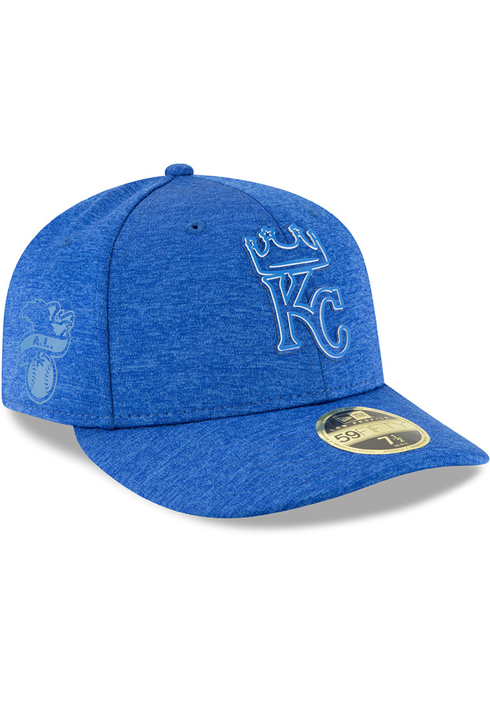 New Era Kansas City Royals Mens Blue 2018 Clubhouse LP 59FIFTY Fitted Hat - Image 2
