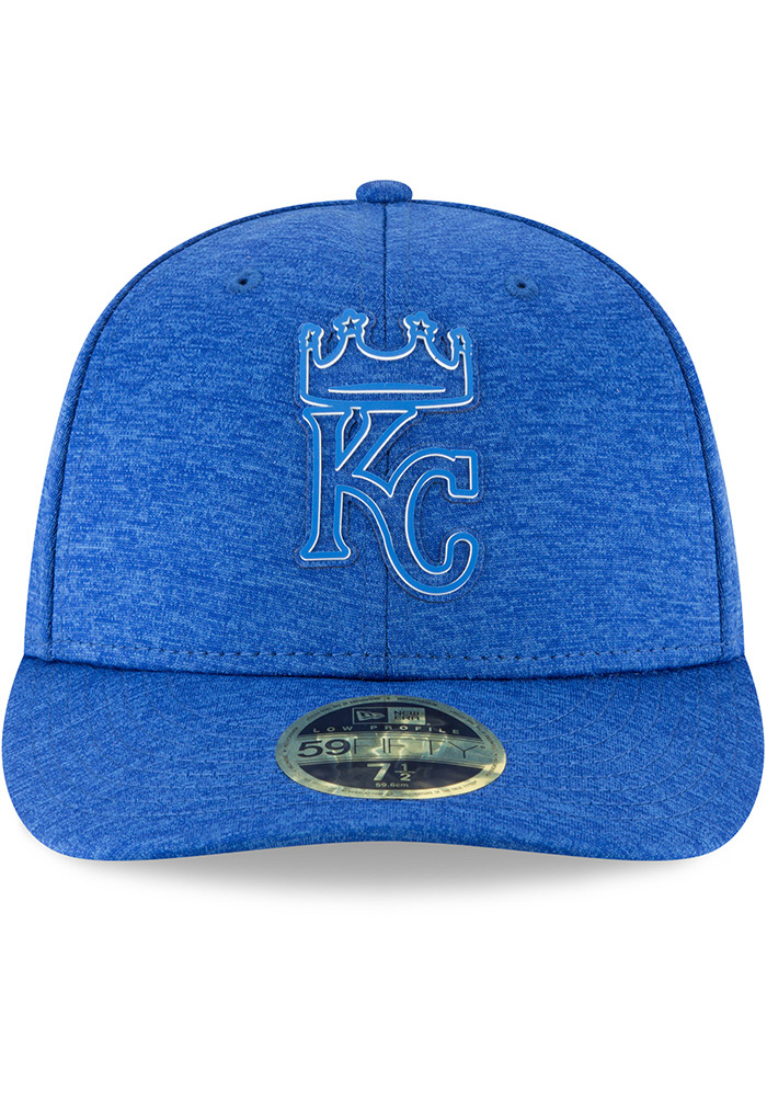 New Era Kansas City Royals Mens Blue 2018 Clubhouse LP 59FIFTY Fitted Hat - Image 3