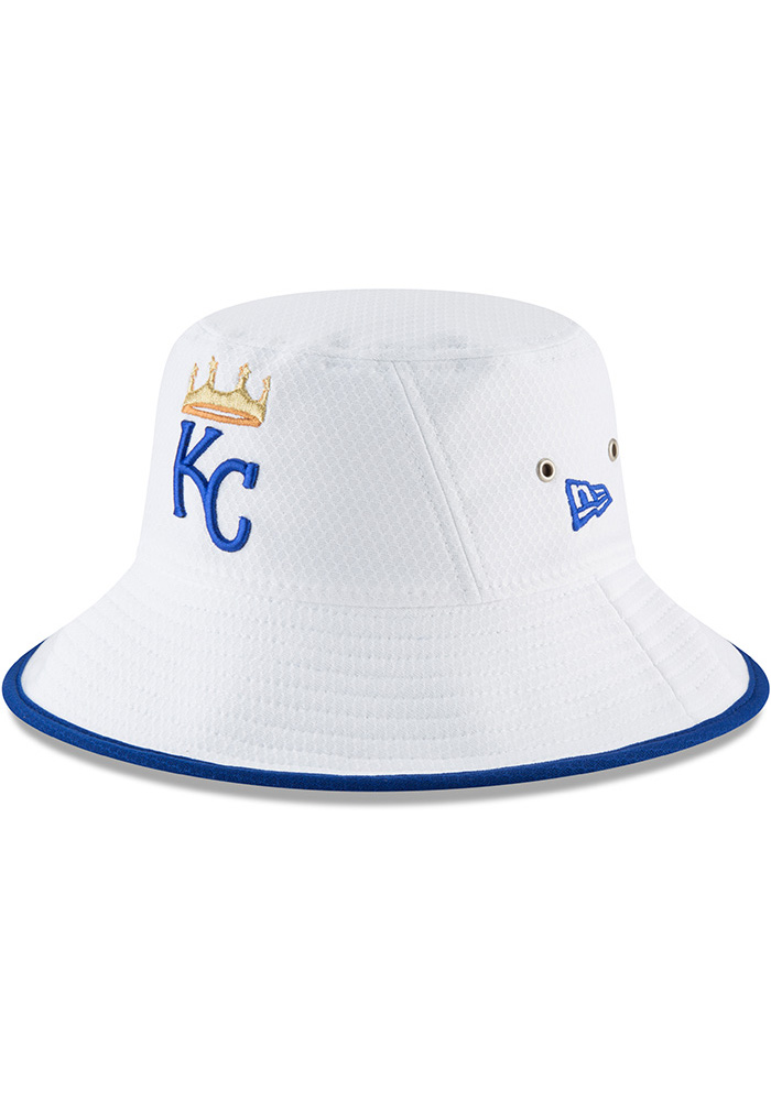 8128775d375 New Era Kansas City Royals White Hex Team Bucket Hat