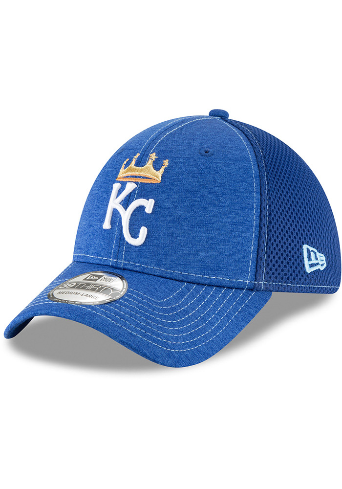 super popular a9d30 d35e7 New Era Kansas City Royals Mens Blue Classic Shade Neo 39THIRTY Flex Hat -  Image 1