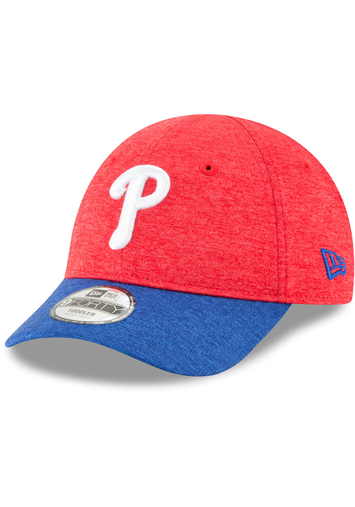 New Era Philadelphia Phillies Baby Shadowed Tot 9FORTY Adjustable Hat - Red 4a5c9a336594