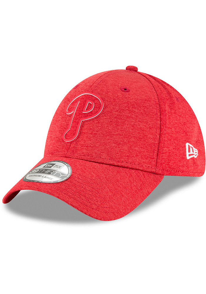 New Era Philadelphia Phillies Red 2018 Clubhouse Jr 39THIRTY Youth Flex Hat - Image 1