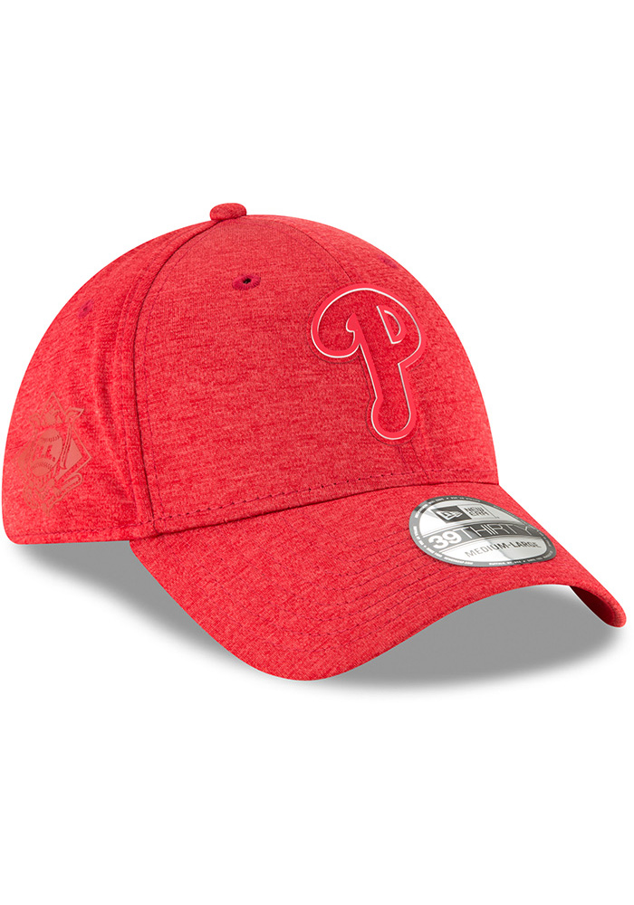 New Era Philadelphia Phillies Red 2018 Clubhouse Jr 39THIRTY Youth Flex Hat - Image 2