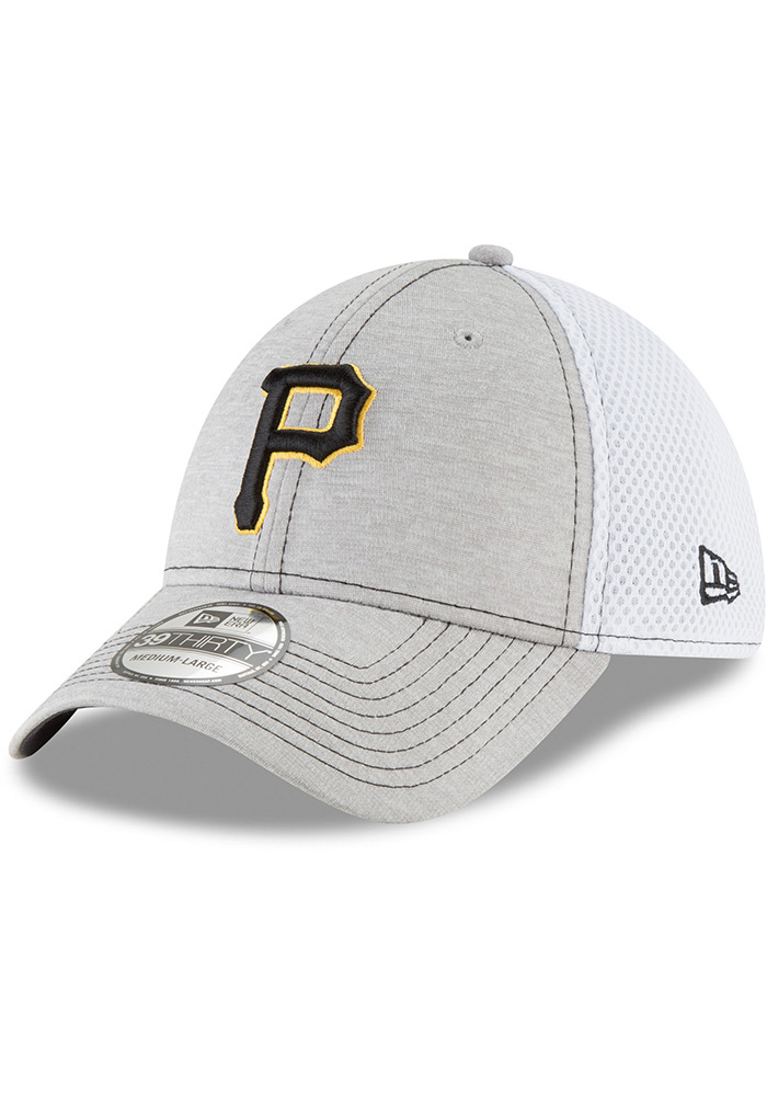 New Era Pittsburgh Pirates Grey Classic Shade Neo 39THIRTY Flex Hat 02caca050ad9
