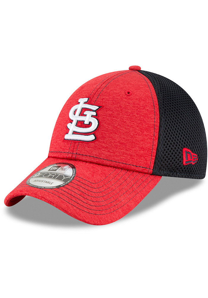 New Era St Louis Cardinals Shadow Turn 2 9FORTY Adjustable Hat - Red - Image 1