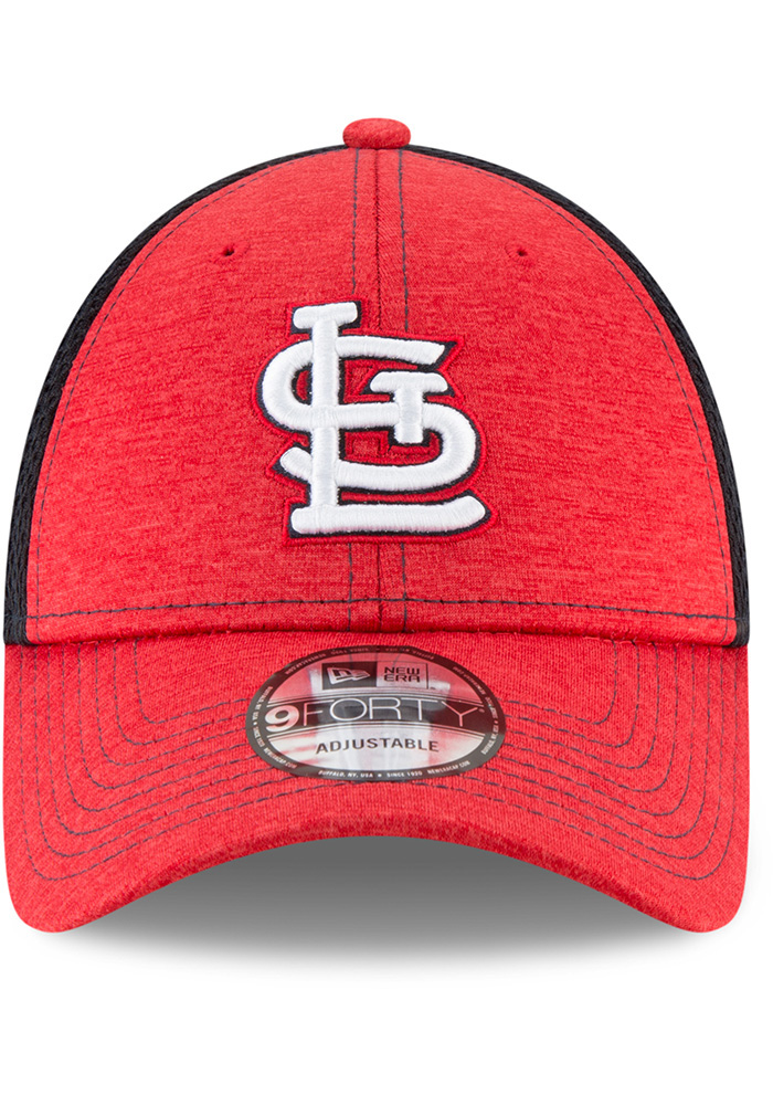 New Era St Louis Cardinals Shadow Turn 2 9FORTY Adjustable Hat - Red - Image 3