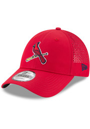 New Era St Louis Cardinals Perf Pivot 2 9FORTY Adjustable Hat - Red