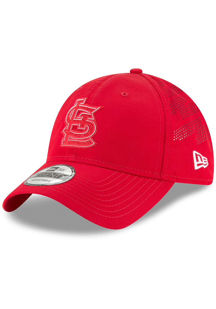 New Era St Louis Cardinals Red 2018 Clubhouse Jr 9TWENTY Youth Adjustable Hat - Image 1