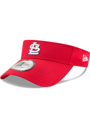New Era St Louis Cardinals Red 2018 Clubhouse Adjustable Visor