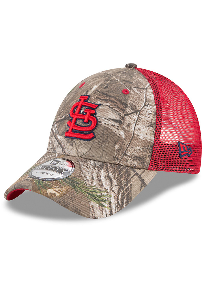 a221709664a ... where to buy new era st louis cardinals green realtree trucker 9forty  adjustable hat 636c7 e5de2