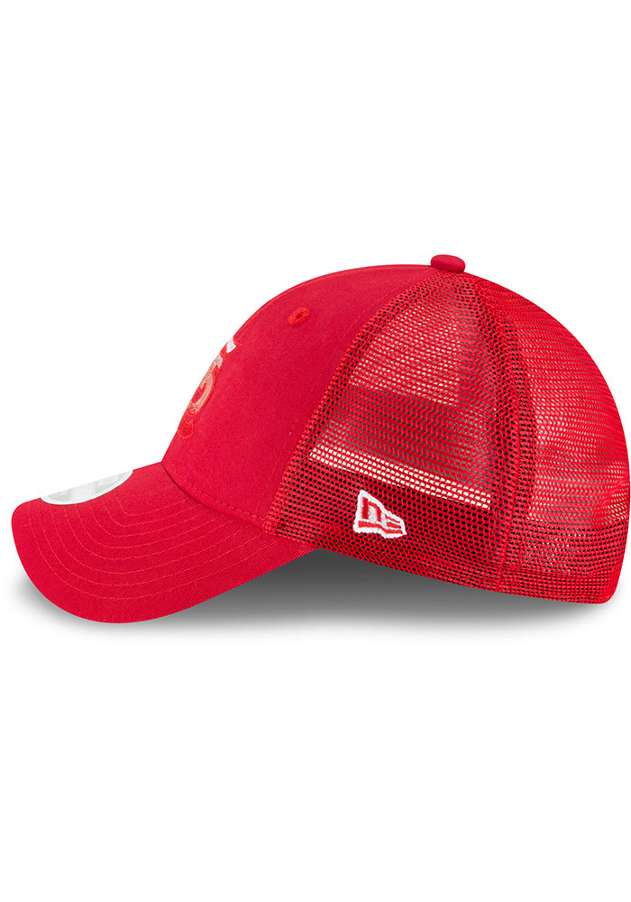 New Era St Louis Cardinals Red Faded Front Trucker 9FORTY Womens Adjustable Hat - Image 4