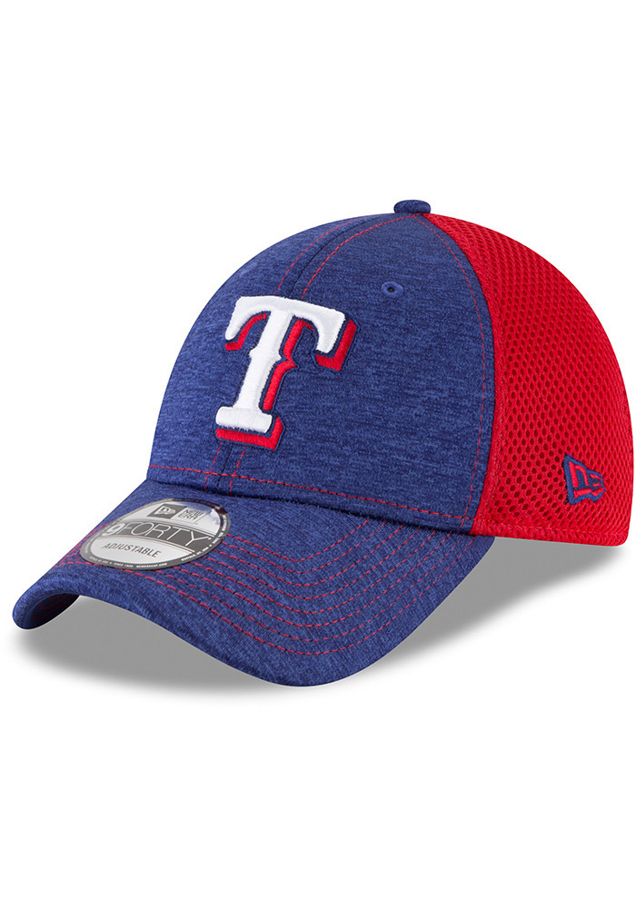 New Era Texas Rangers Blue Shadow Turn 2 Jr 9FORTY Youth Adjustable Hat - Image 1