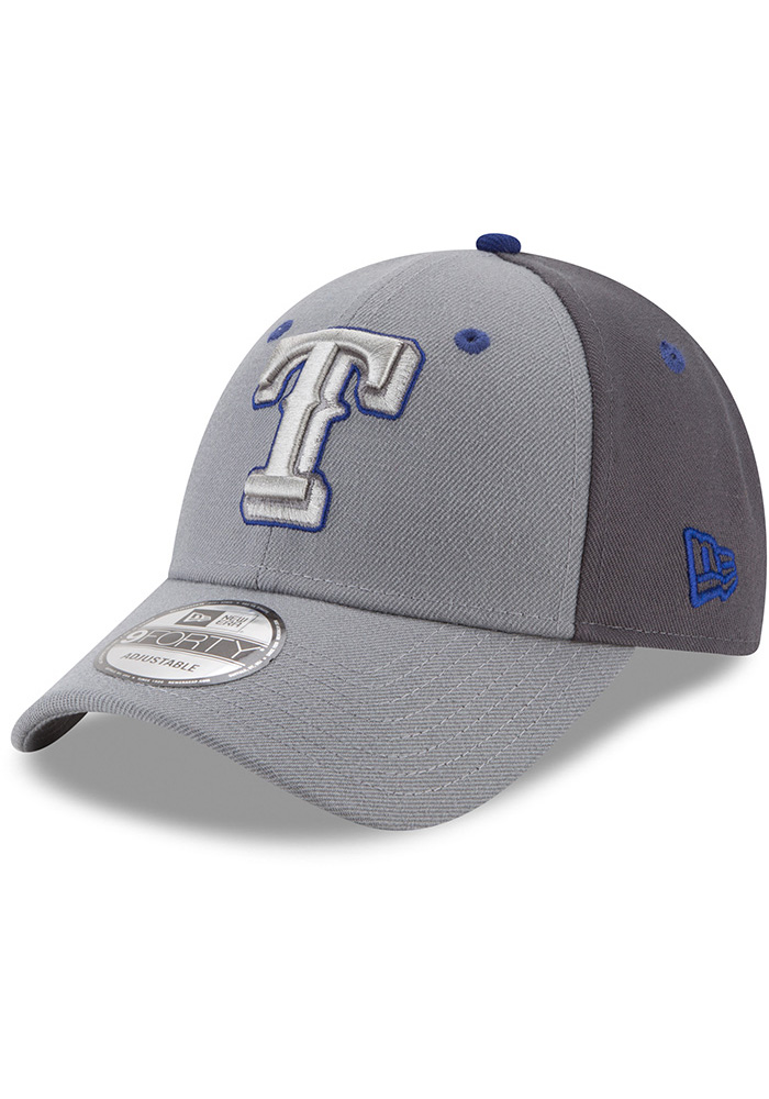 New Era Texas Rangers Grey The League Gray Pop Jr 9FORTY Youth Adjustable Hat - Image 1