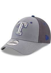 New Era Texas Rangers Grey The League Gray Pop Jr 9FORTY Youth Adjustable Hat