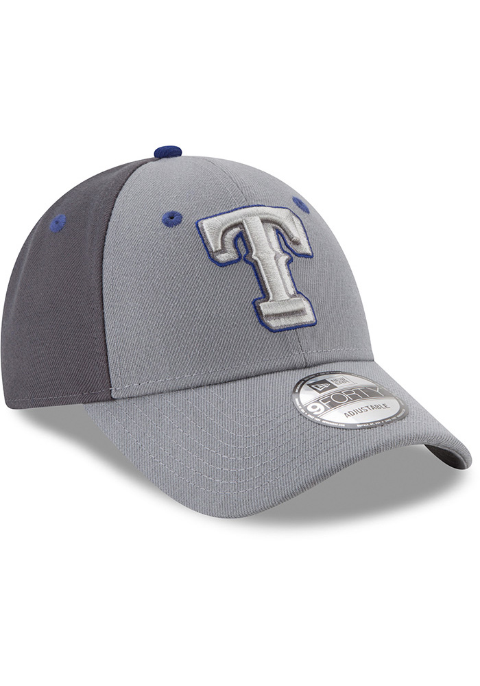 New Era Texas Rangers Grey The League Gray Pop Jr 9FORTY Youth Adjustable Hat - Image 2