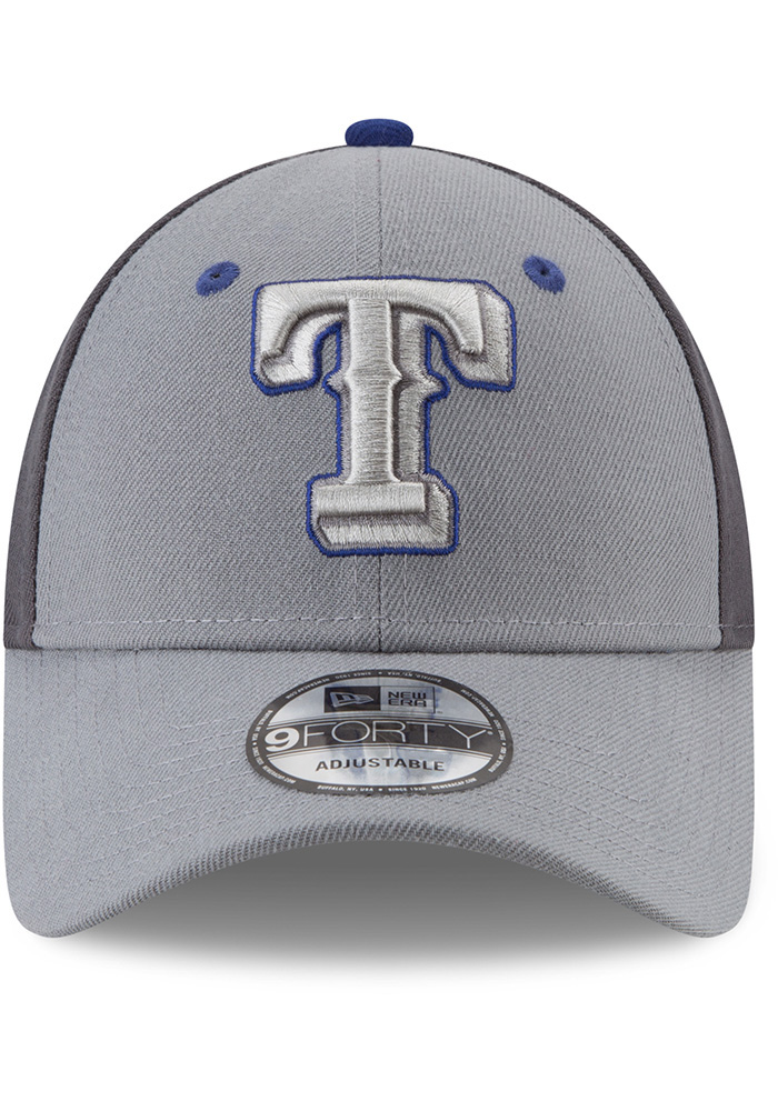New Era Texas Rangers Grey The League Gray Pop Jr 9FORTY Youth Adjustable Hat - Image 3