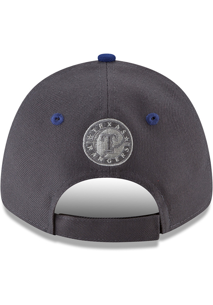 New Era Texas Rangers Grey The League Gray Pop Jr 9FORTY Youth Adjustable Hat - Image 5