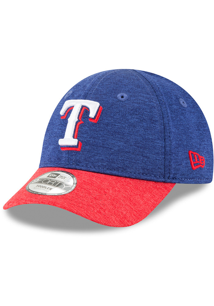 New Era Texas Rangers Baby Shadowed Tot 9FORTY Adjustable Hat - Blue - Image 1