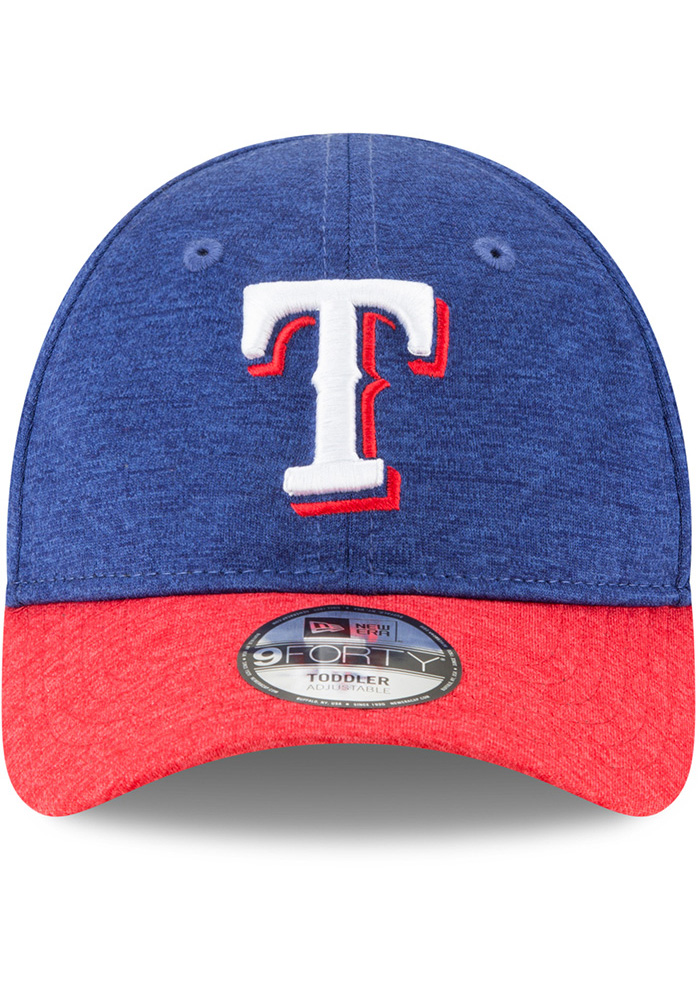 New Era Texas Rangers Baby Shadowed Tot 9FORTY Adjustable Hat - Blue - Image 3