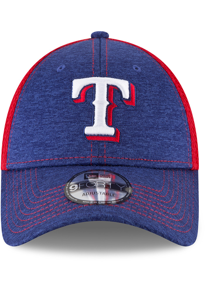 New Era Texas Rangers Shadow Turn 2 9FORTY Adjustable Hat - Blue - Image 3