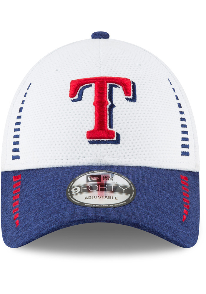 New Era Texas Rangers NE Speed Tech 2 9FORTY Adjustable Hat - White - Image 1