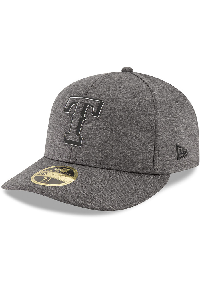 New Era Texas Rangers Mens Grey 2018 Clubhouse LP 59FIFTY Fitted Hat - Image 1