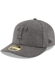 Texas Rangers New Era Grey 2018 Clubhouse LP 59FIFTY Fitted Hat