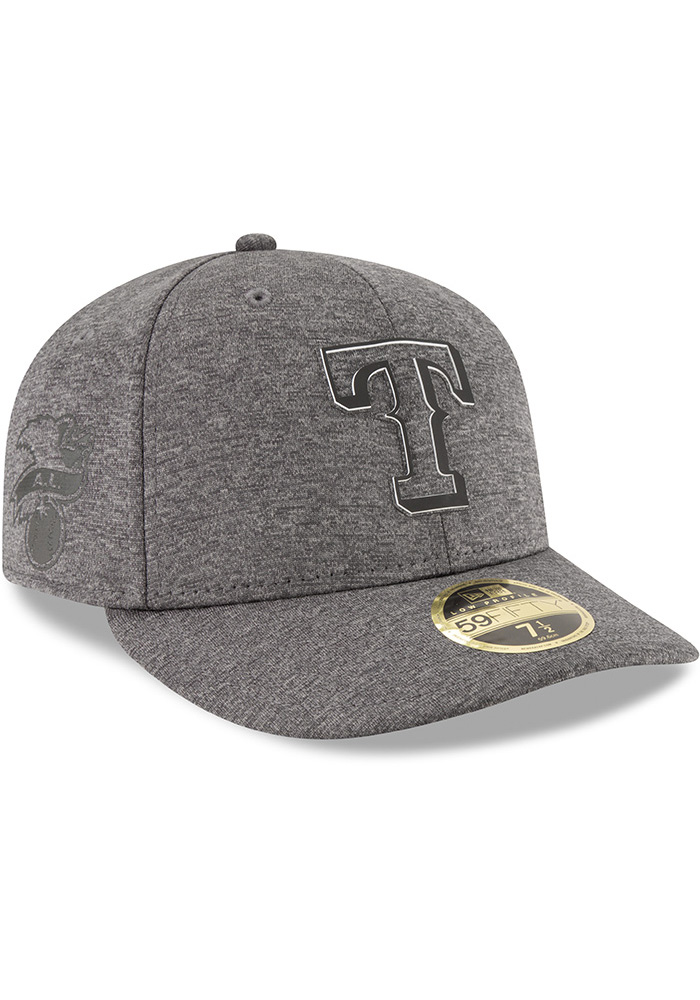 New Era Texas Rangers Mens Grey 2018 Clubhouse LP 59FIFTY Fitted Hat - Image 2