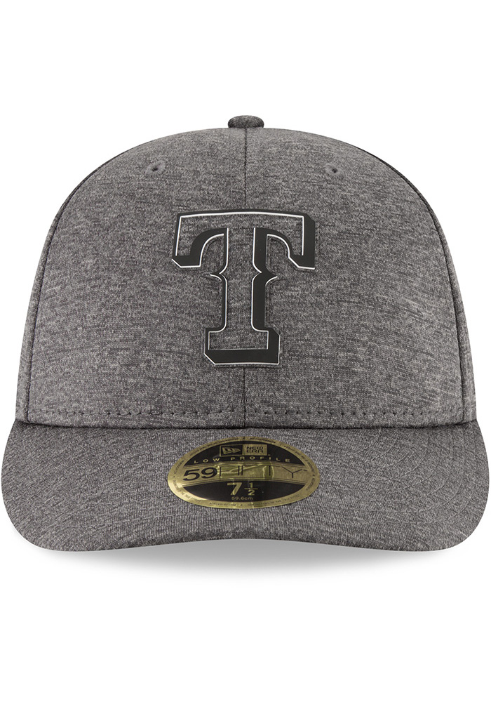 New Era Texas Rangers Mens Grey 2018 Clubhouse LP 59FIFTY Fitted Hat - Image 3