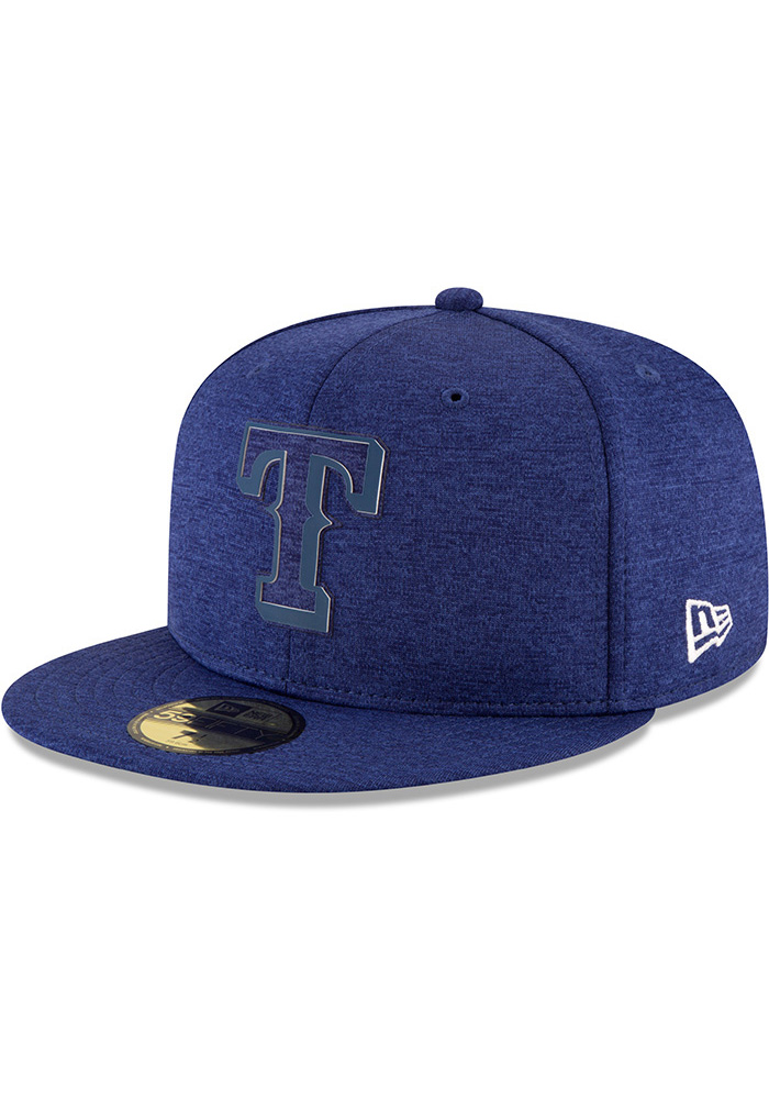 New Era Texas Rangers Mens Blue 2018 Clubhouse 59FIFTY Fitted Hat - Image 1