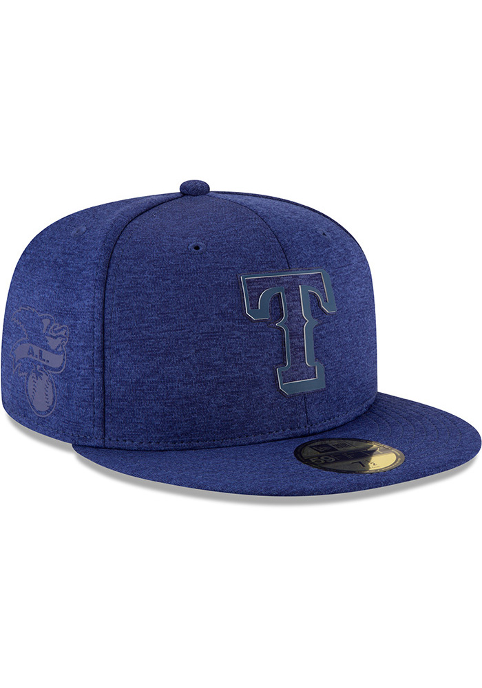 New Era Texas Rangers Mens Blue 2018 Clubhouse 59FIFTY Fitted Hat - Image 2