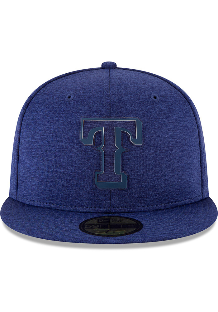 New Era Texas Rangers Mens Blue 2018 Clubhouse 59FIFTY Fitted Hat - Image 3