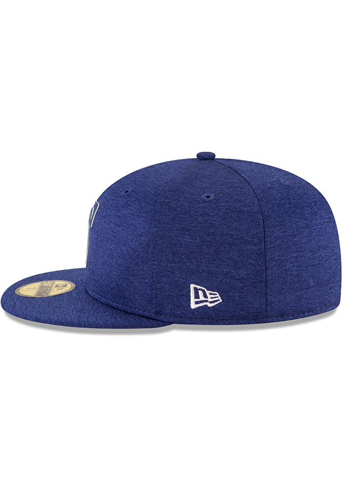 New Era Texas Rangers Mens Blue 2018 Clubhouse 59FIFTY Fitted Hat - Image 4