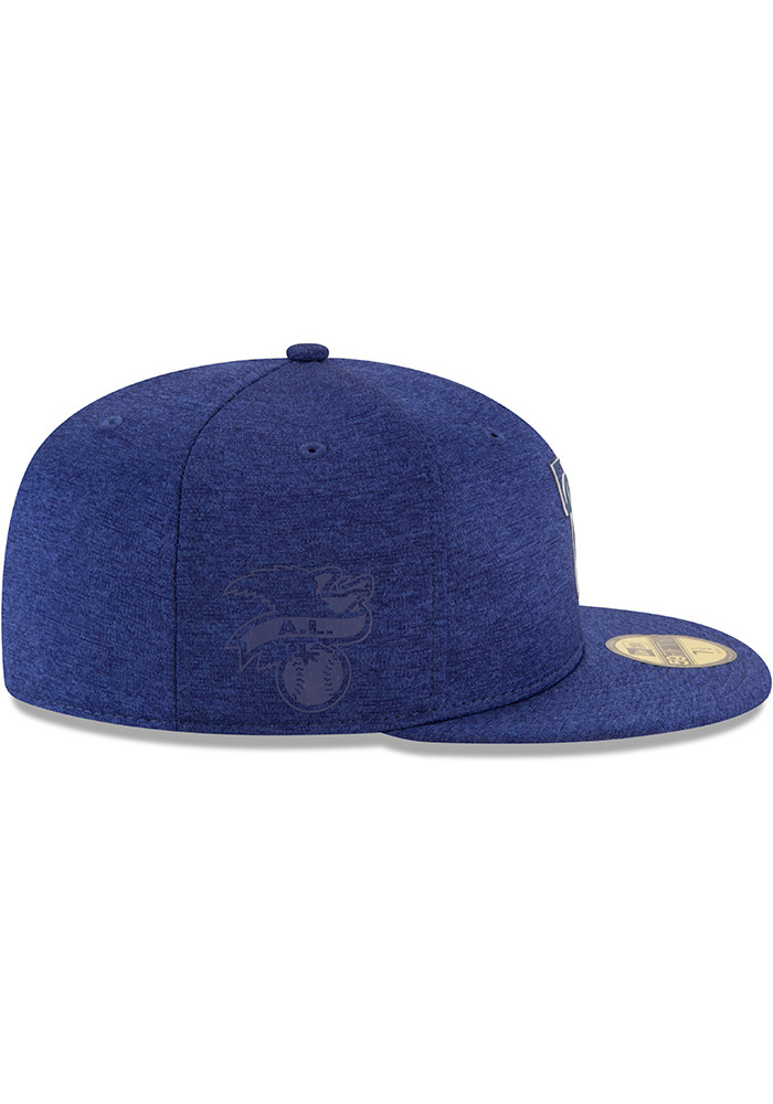 New Era Texas Rangers Mens Blue 2018 Clubhouse 59FIFTY Fitted Hat - Image 6
