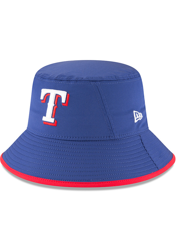 New Era Texas Rangers Blue 2018 Clubhouse Mens Bucket Hat - Image 1