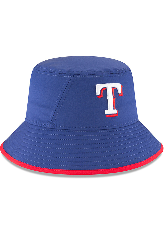 New Era Texas Rangers Blue 2018 Clubhouse Mens Bucket Hat - Image 2