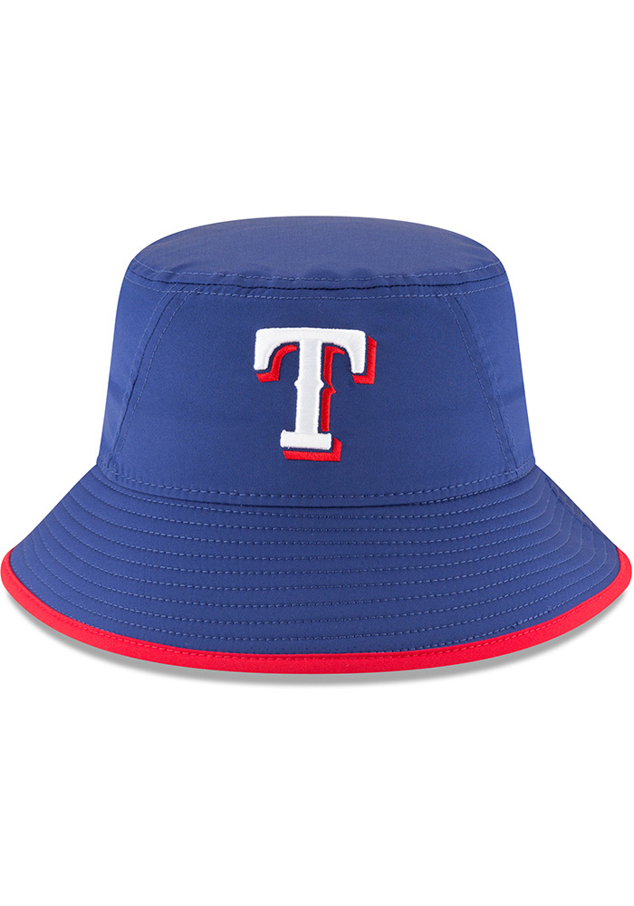 New Era Texas Rangers Blue 2018 Clubhouse Mens Bucket Hat - Image 3