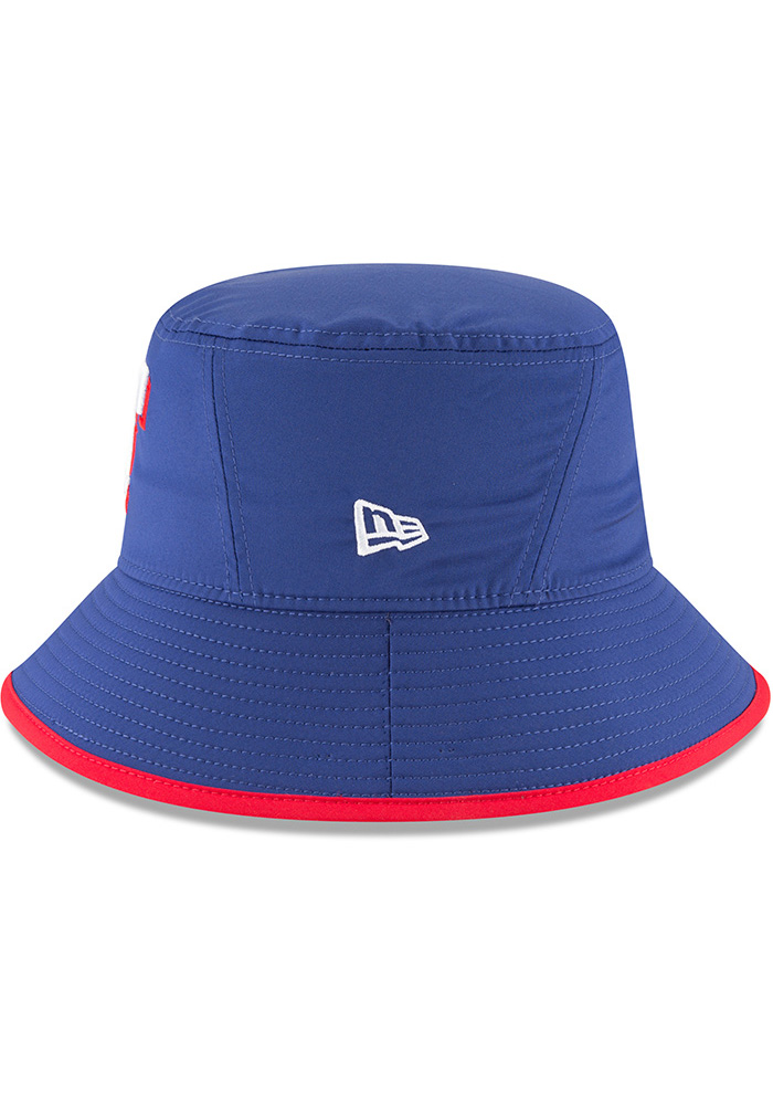 New Era Texas Rangers Blue 2018 Clubhouse Mens Bucket Hat - Image 4