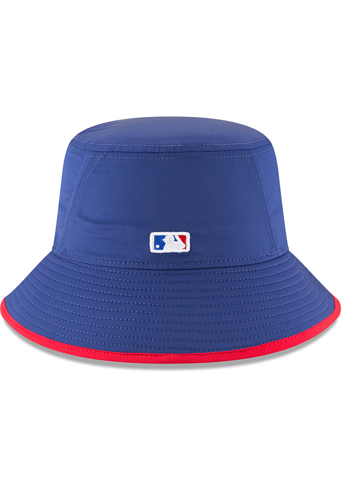 New Era Texas Rangers Blue 2018 Clubhouse Mens Bucket Hat - Image 5