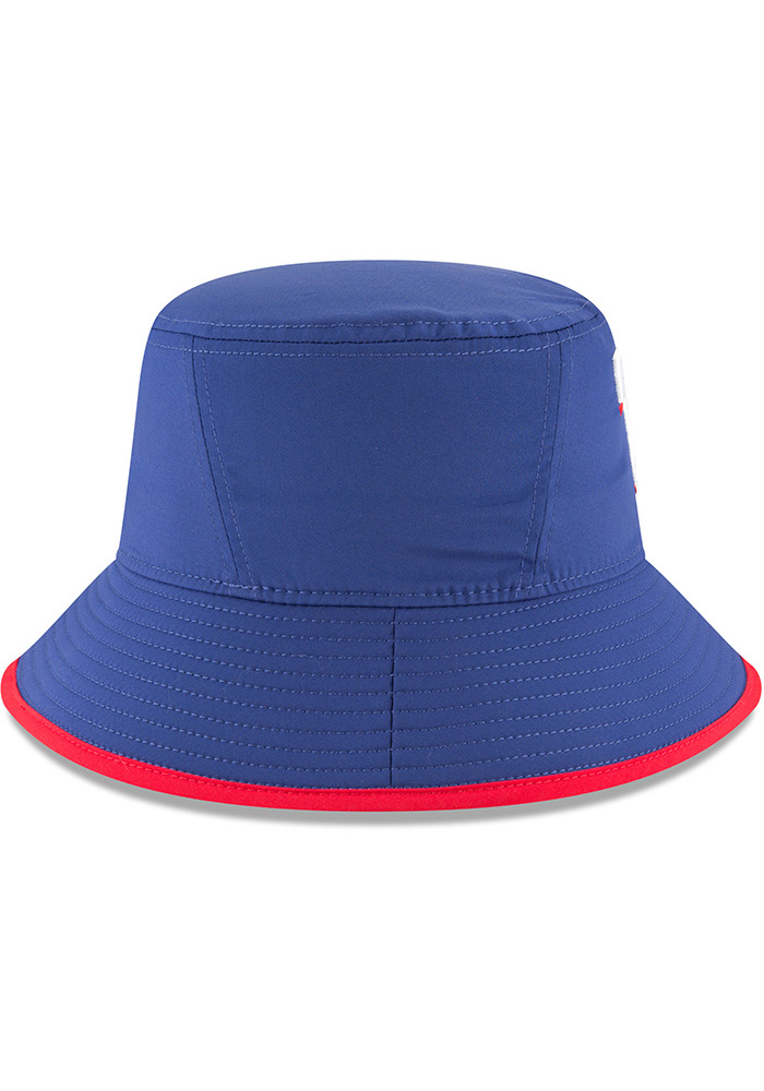 New Era Texas Rangers Blue 2018 Clubhouse Mens Bucket Hat - Image 6