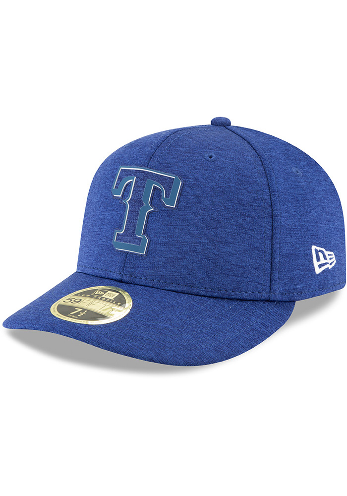 New Era Texas Rangers Mens Blue 2018 Clubhouse LP 59FIFTY Fitted Hat - Image 1