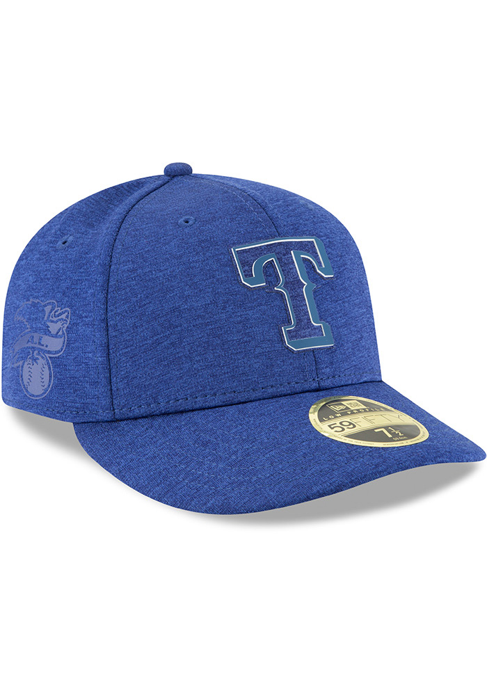 New Era Texas Rangers Mens Blue 2018 Clubhouse LP 59FIFTY Fitted Hat - Image 2