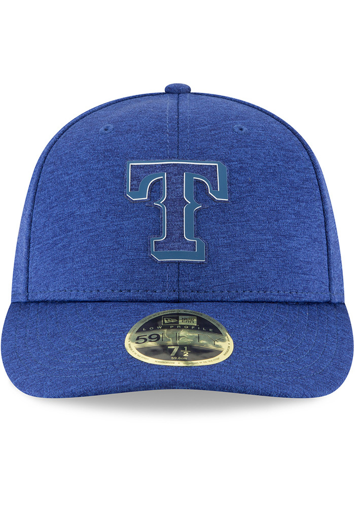 New Era Texas Rangers Mens Blue 2018 Clubhouse LP 59FIFTY Fitted Hat - Image 3